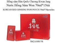 Korean Red Ginseng Won Pouch 30pouches 50ml