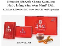 Korean Red Ginseng Won Pouch 15pouches 70ml